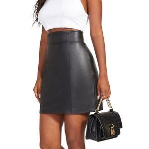 BB DAKOTA Leather Skirt